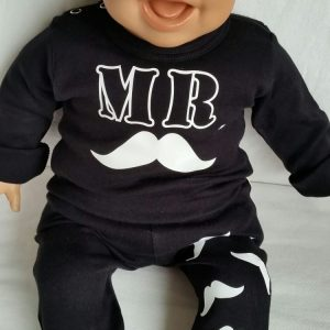 Tweedelige set 'Mr. Mustache'