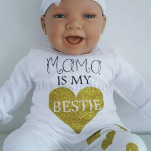 Tweedelige set 'Mama is my BESTIE'