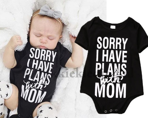 Romper 'sorry i have plans with mom'