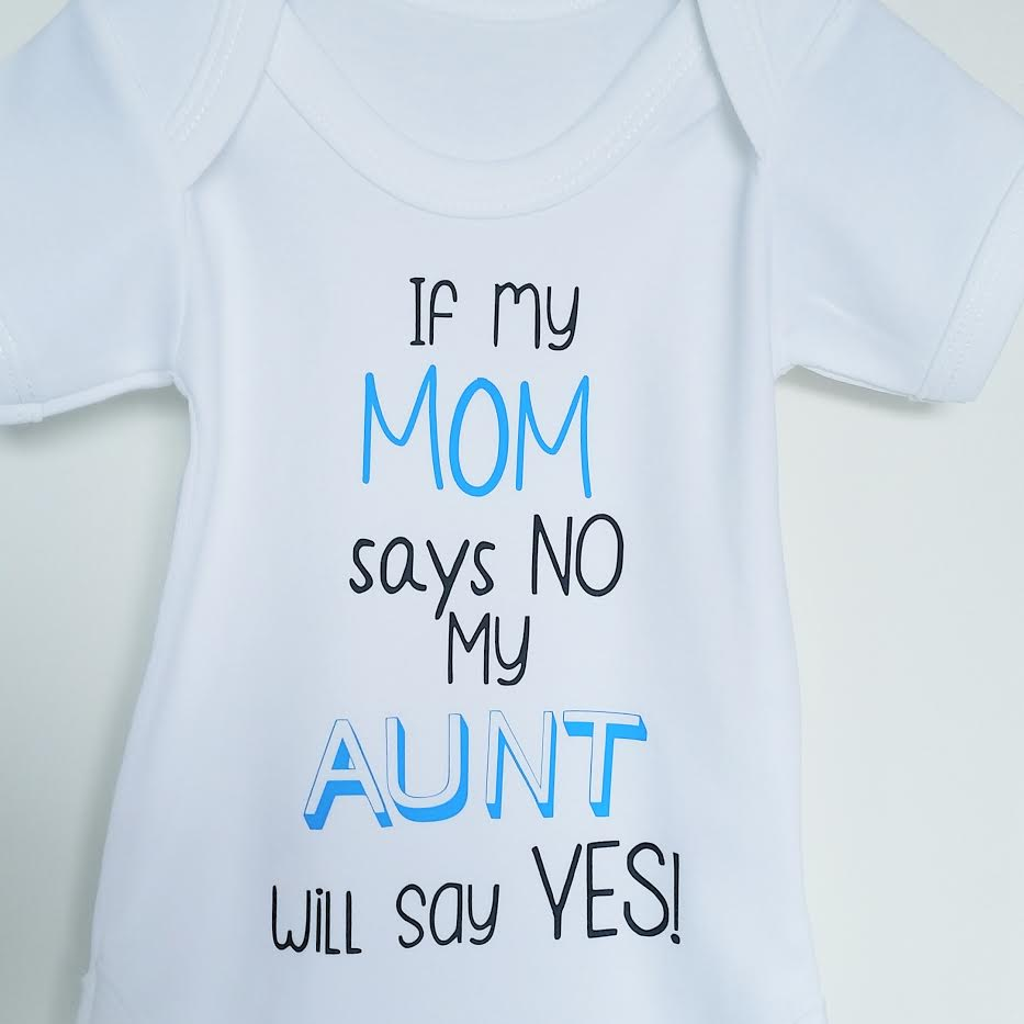 Romper 'If my mom says...' for boys