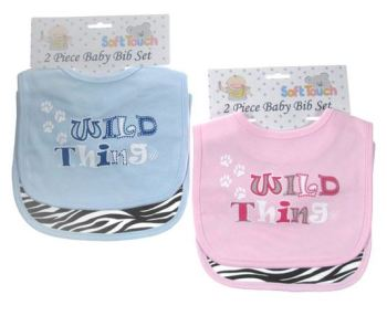 Slabbetjes set Wild thing Zebra