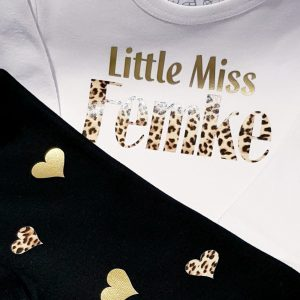 Tweedelige set 'Little Miss' (met naam)