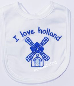 Slabbetje I love Holland 'molen'