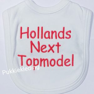 Slabbetje 'Hollands Next Top Model'