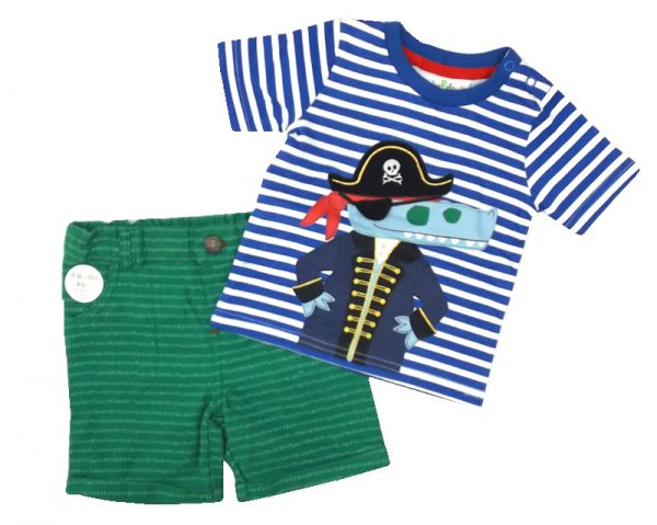 Korte broek en shirt Captain Crocodile