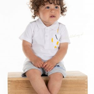 T-shirt polo blauw of wit by Blue Seven
