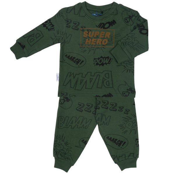 Pyjama Super Hero groenbruin by Frogs and Dogs